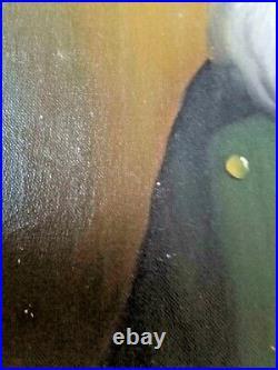 Large Vintage David Pelbam Framed Painting, Bavarian portrait Signed 26 x 22