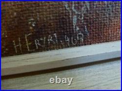 Large Vintage Oil on board painting Snowdonia Welsh Landscape signed ERYRI 1969