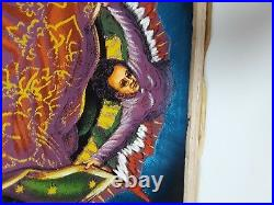 Large Virgen De Guadalupe Velvet Painting, Mexico, 38.5 By 26.5, Signed