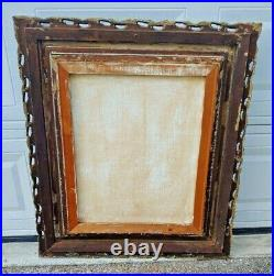 Large Vtg Framed Original Painting Oil On Canvas Portrait of a Lady Puckett MCM