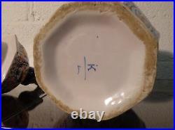 Large antique delftware jar dutch pottery ceramic Delft signed chinese vase