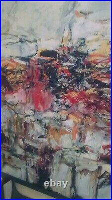 Large vintage Joan Mitchell abstract lithograph