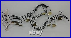 Mid Century Modern Curtis Jere Large Music Notes Wall Art Sculpture, Signed 1988