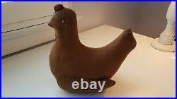 Norma Schneeman Primitive Large Hen Signed & Dated 1997 Folk Art Rare