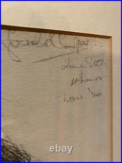 Original Gerald Cooper R. C. A. Large Portrait pencil of a woman. Signed. 81 x 58.5