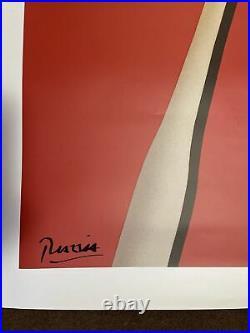 Original Vintage Pasta Razzia Poster Large Version Signed On Linen