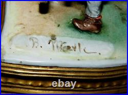 Rare Antique Large Capodimonte Porcelain Sculpture Signed by Artist