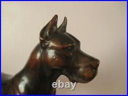 Rare Large 15 Antique Black Forest Signed H Huggler Dog Swiss Wood Carving