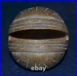 Rare Large Heavy Signed Antique Spherical Burmese Bronze Elephant Bell Chu Bell