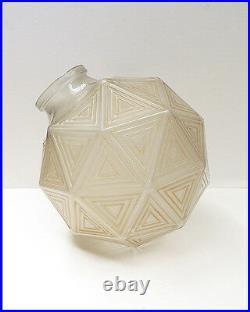 Rene Lalique Glass Nanking Plafonniers Vase Signed Authentic Large Pair Antique