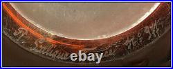 Rene Lalique Rare Large Sophora Glass Vase Hand Signed Red Amber Crystal Antique