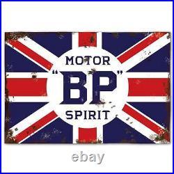 Replica BP Motor Spirit Sign, Vintage Garage Sign, Large and Extra Large Sizes