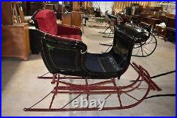 Restored Antique Large 2 Passenger Portland Cutter Sleigh with Shafts