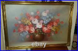 Robert Cox Very Large Oil Painting in Gilt Frame