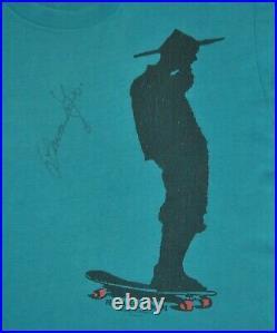 Signed 1989 POWELL PERALTA Animal Chin Bones Brigade Vintage Stedman T shirt