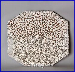 Unique large signed ceramic plate. Z25
