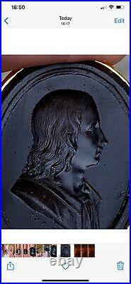 VERY RARE LARGE GEORGIAN 18th century intaglio seal ring signed Pichler 1790