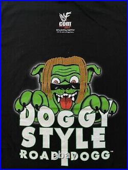 VINTAGE 90s Autographed Road Dogg Doggy Style 1998 T-shirt L Wrestling WCW WWF