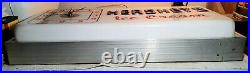 VINTAGE LARGE ELECTRIC LIGHT-UP HERSHEY'S ICE CREAM ADVERTISING CLOCK SIGN 24x11