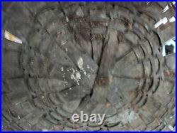 Very Large Antique Primitive Basket Splint Gathering Basket