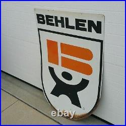 Vintage 1960's Large Behlen MFG Co Grain Bins Seed Corn Feed Farm 40 Metal Sign