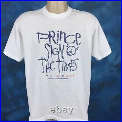 Vintage 80s PRINCE SIGN O' THE TIMES MOVIE T-Shirt LARGE concert rock pop thin