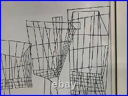 Vintage Ben Shahn Super Market Large Framed Original Lithograph Signed