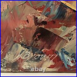 Vintage Clown Oil Painting Large Signed Original On Canvas Palette Knife 24 x 20