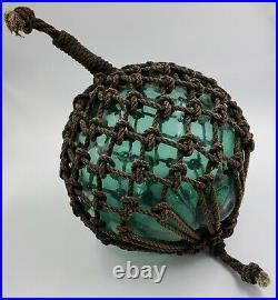 Vintage Large Japanese Glass Fishing Float Signed