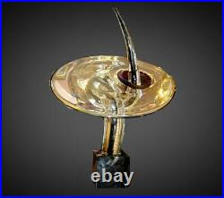 Vintage Mid Century RARE Signed Archimede Seguso Large Murano Modern Sculpture