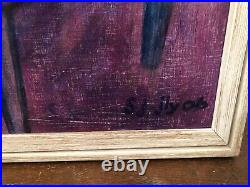 Vintage Oil Painting Portrait Large Painting Abstract of Lady