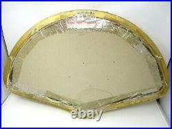 Vintage Shadow Box Gold Framed Antique Folding Hand Fan Signed Large Wall Art