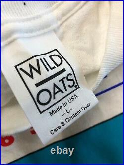 Vintage T Shirt Peter Max Retrospektive 1993 NOS Size L White Wild Oats Signed