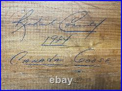 Vtg Large 1984 Signed Richard Connolly Canada Goose Carved Decoy 31 X 8 13lbs